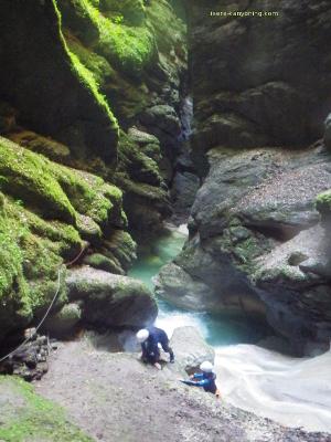 canyon de l'infernet en chartreuse proche de grenoble
