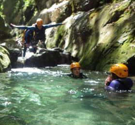 canyon en isere autour de grenoble, Lyon et du vercors canyoning villard de lans chambery