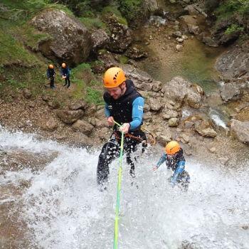 canyoning rappel de 28m canyon des ecouges