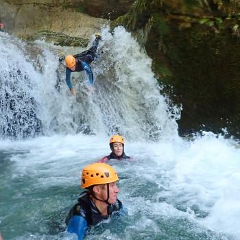 vercors canyoning : canyon des ecouges inferieur cascade finale
