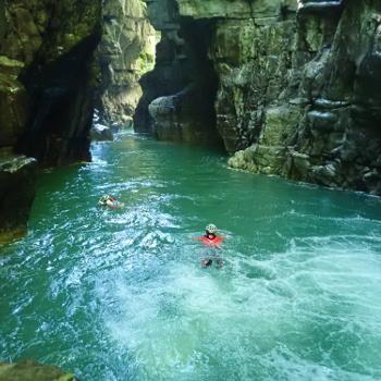 canyon dans les gorges de Chaille vers chambery en chartreuse